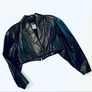 Circa 1990s North Beach Black Cropped Jacket M